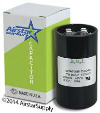 708 - 850 uF x 110 / 125 Vac • Bmi Motor Start Capacitor # 092A708B125Ad4A • Usa