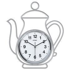 Orologio da parete in acciaio inox Trabo Teapot quadrante bianco 24 x 28 h