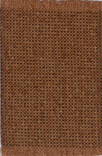 "Dollhouse Miniature Woven Fabric Accent Rug Dark Red and Tan 9/"" x 5 3//4/"""
