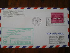LUFTHANSA FFC 671, 1966 UNITED NATIONS UN - ECUADOR , New York Guayaquil LH 490