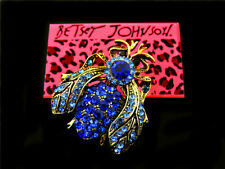 Charm Insect Brooch Pin Gift Betsey Johnson Women's Blue Cute Bee