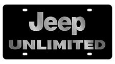 New Jeep Unlimited Logo Acrylic License Plate
