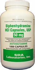 DIPHENHYDRAMINE 50MG (GEN BENADRYL) BOTTLE OF 1000