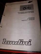 Landini élévateur électronique : notice utilisation