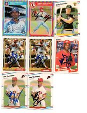 Alex Trevino signed 1985 Fleer #341 Braves Mets Reds