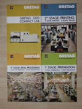 4 x alter Prospekt GRETAG 3320 Compact LAB um 1980 ( 2663
