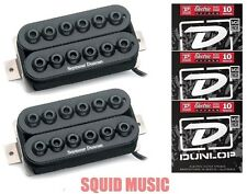 Seymour Duncan Invader 6 String Set In Black SH-8 ( 3 SETS OF DUNLOP STRINGS )