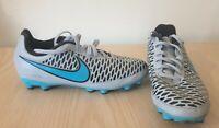 NIKE MAGISTA ONDA FG JUNIOR Size UK 3.5 Grey Blue Football Boots