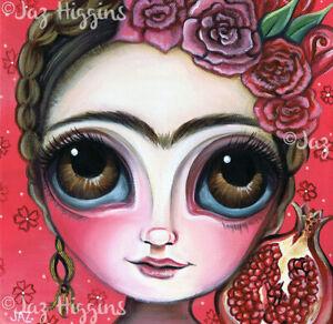 Frida Kahlo and the Pomegranate Art Print - SIGNED & dated artist Jaz Higgins