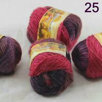 Sale Lot of 4 Balls NEW Knitting Yarn Chunky Hand-woven Colorful Wool scarves 25