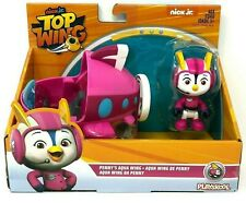 """Nick Jr TOP WING 3"""" Action FIGURE & VEHICLE Racer PENNY Toy Aqua Wing Car New"""