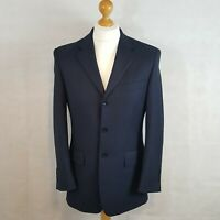 Racing Green Mens Suit Blazer Jacket Trousers Blue Size 36 S Pure Wool Tailored