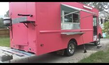Negotiable brand New food truck for sale cheap concession foodtrucks pink