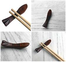 Chinese Wooden Chopstick Rests Holder Fish Wood Stand