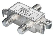 2-fach sat verteiler splitter digital-tauglich 3 x F buchse kupplung 5-1000 mhz