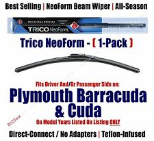 Qty 1 Premium NeoForm Wiper Blade fits 1970-1974 Plymouth Barracuda, Cuda 16160