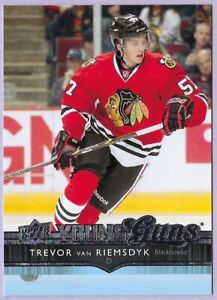 2014/15 Upper Deck Young Guns card # 215 of Trevor van Riemsdyk