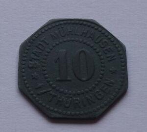 Notgeld: Germany, Mühlhausen i. Thür. 10 Pfennig, War money, Emergency coin
