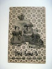 """Lovely Vintage Doll Catalog by """"Mark Farmer Co."""" w/ Lots of Pictures & Prices  *"""