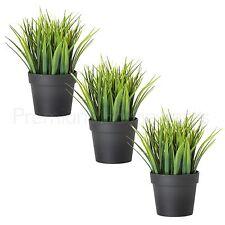3 X Ikea fejka Artificielles Herbe Verte plantes en pots (20 cm)