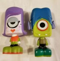 Lot of 2 Psyclops LLC Mini Figures Toys One Eyed Blind Bag IKE Green and Purple