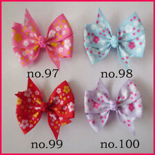 "50 BLESSING Girl  3.25"" Abby Hair Bow Clip Easter Accessories Flower Spring"