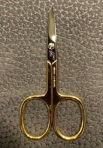 "Nail Scissors Gold "" Shine "" 24K Gold Plated - Erbe Solingen Becker-Manicure"