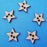 Holz MDF Stars für Hängende Packung 1 oder 5 - Weihnachten, Nordisch, Rustikal,