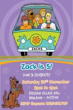Personalised Scooby Doo Birthday Party invitations x 10