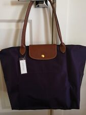 Longchamp Le Pliage Large Nylon Tote Bag   Purple
