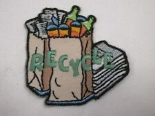 Recycle Bag Bottles Embroidered Iron On Patch