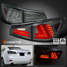 For Lexus 2006-2008 IS250 IS350 Smoked Tinted Full LED Rear Tail Brake Lights