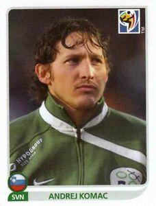Panini Sticker Fußball WM 2010 Nr. 250 Andrej Komac Slovenija Bild NEU Worldcup