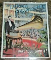 "18/"" X 24/""  Edison Diamond Amberola 50 Phonograph Advertisement on Canvas"