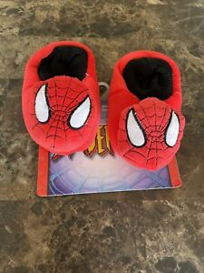 New Boys Toddler Spiderman Slippers Size 5/6