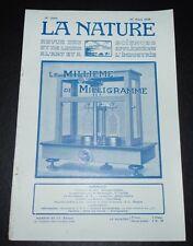REVUE LA NATURE N°2660 1925 ROTIN / NOIX DU CHAULMOOGRA / LAVE-VAISSELLE