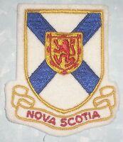 Nova Scotia Patch - vintage - Canada - felt patch - 3 1/8 inches x 3 5/8 inches