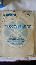 Yamaha IT250F IT400F IT 250 400 F Model Guide and Service Manual 1979