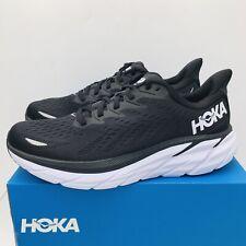 Hoka One Clifton 8 Womens Running Shoes Size 9 B Black/ White