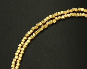 Karen hill tribe 24k Gold  Vermeil Style 120 Faceted Beads 1.6 mm.