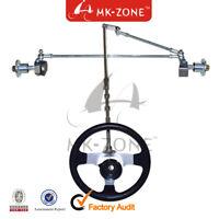 168cc GO KART UTV 5CM Flange ATV Front Steering Gear Rack Joint Tie Rod & Wheel