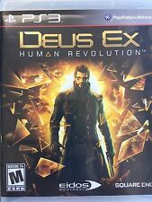 Deus Ex Human Revolution Playstation 3 game Rated M For Mature Pre-Owned!