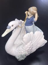 "Lladro 5705 Swan and The Princess 9 1/2"" Mint Condition"