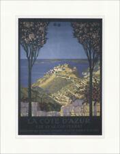 La Cote d Azur Eze et le Cap Ferrat Geo Dorival 1910 Kunstdruck Plakatwelt 869