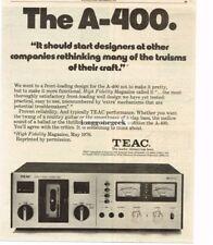 1976 Teac A-400 Cassette Deck Stereo Hi-Fi Vtg Print Ad