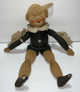 RARE 1940s Cloth Elf Gremlin Doll from Krueger NY Vintage Antique