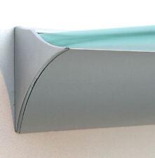 2. Wahl: Profil Klemmleiste ROYAL silbern Aluminium für 8mm Glasböden /für Regal