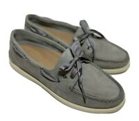 Sperry Top-Sider A/O Satin Lace Boat Shoes - Women's Size 9m, Gray EUC