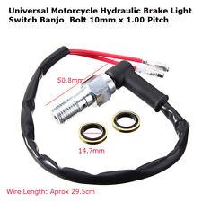 Universal 10mm x 1.25 Pitch Motorrad Hydraulisch Bremslicht Schalter Banjo Bolt