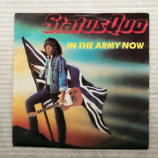 """STATUS QUO IN THE ARMY NOW(PORT) 7"""" 1986 WITH HEARTBURN - light signs of use POR"""